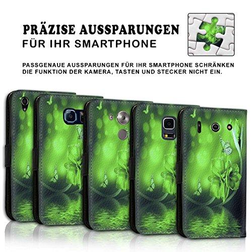 Wallet Book Style Flip Handy Tasche Case Schutz Hülle Schale Motiv Etui für Apple iPhone 6 / 6S - Design Flip MVD450