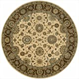 """Nourison Living Treasures (LI05) Beige Round Area Rug, 5-Feet 10-Inches by 5-Feet 10-Inches (5'10"""" x 5'10"""")"""