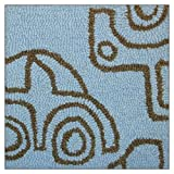 notNeutral Transport Rug, Sable/Ozone Blue, 4-Feet by 5-Feet