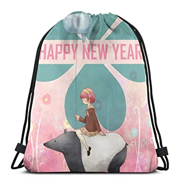 b33f02ebf697 Generic Happy New Year Nice Since 1906 1 Men Women Water Repellent Gymbag  Large Drawstring Backpack