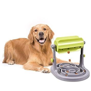 YGJT Alimentador para Perros/Gatos-IQ Entrenamiento Juguetes Juego Interactivo Alimentador Lento para Mascotas Ejercicio de Búsqueda de Golosinas Altura del ...