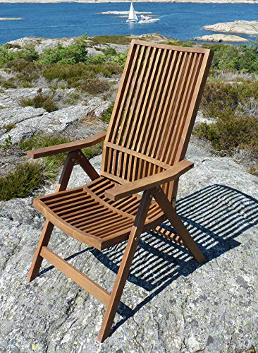 Image Unavailable & Amazon.com : Interbuild Stockholm 5-Position Deck Chair : Garden ...