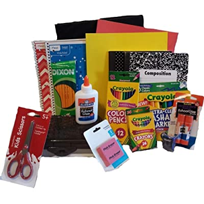 Back to School Essentials Supplies Kit Bundle K-8 : Childrens Crayons : Office Products