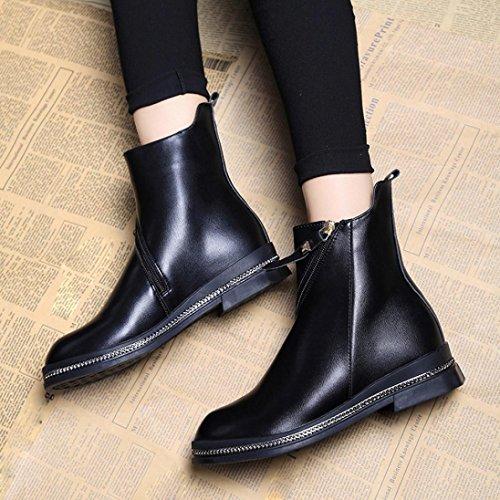 WINWINTOM Moda Martin Boots Mujeres Botas Casual Punta estrecha Hebilla Botines