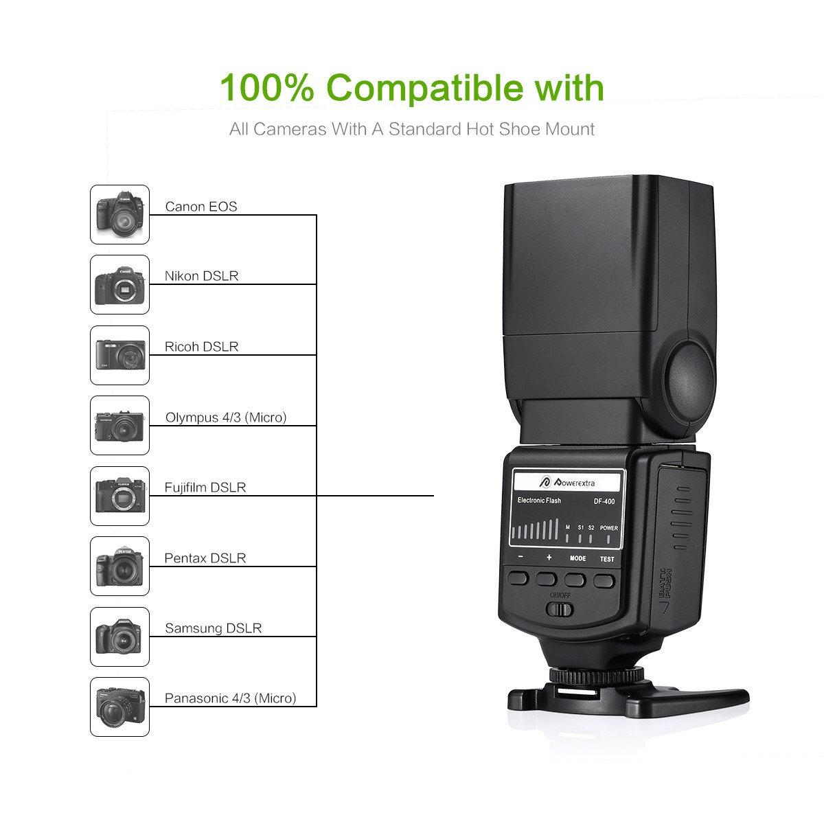 Powerextra Professional DF-400 Speedlite Camera Flash for Canon ...