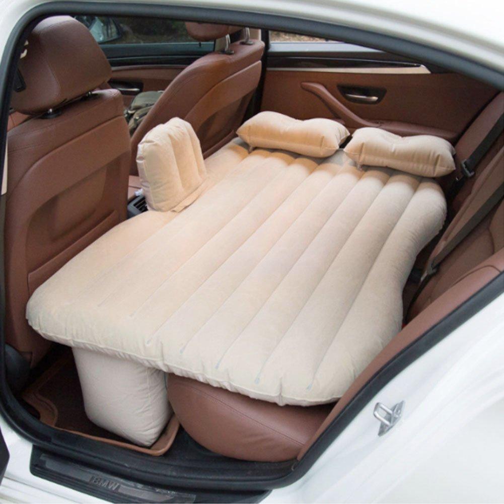 MRCARTOOL Auto Reise Aufblasbare Matratze Luftbett Kissen Camping SUV Air Couch mit 2 Air Kissen + 12 V Luftpumpe