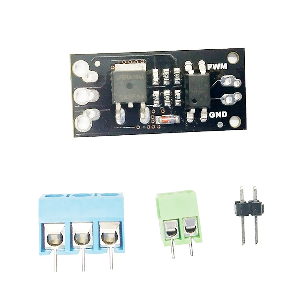 MonkeyJack Plastic FR120N MOS Field Effect Module Motor Driver with Terminal Pins Board 33x15mm