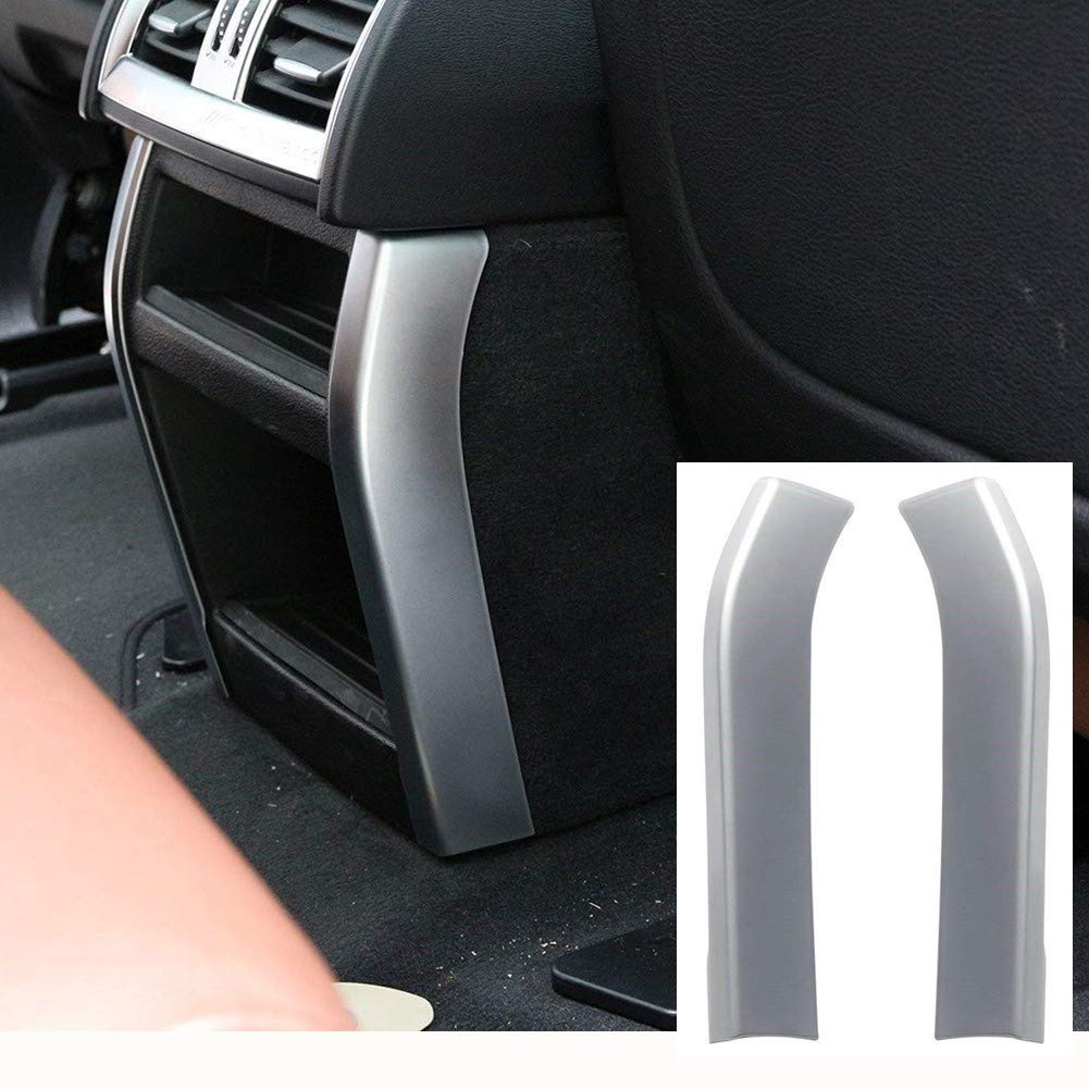car-styling ABS cromato accessori decorazione interna posteriore aria condizionata Outlet Vent Frame cover Trim Accessory for X5  F15  x 6  F16  2014  2015  2016 Luxuqo