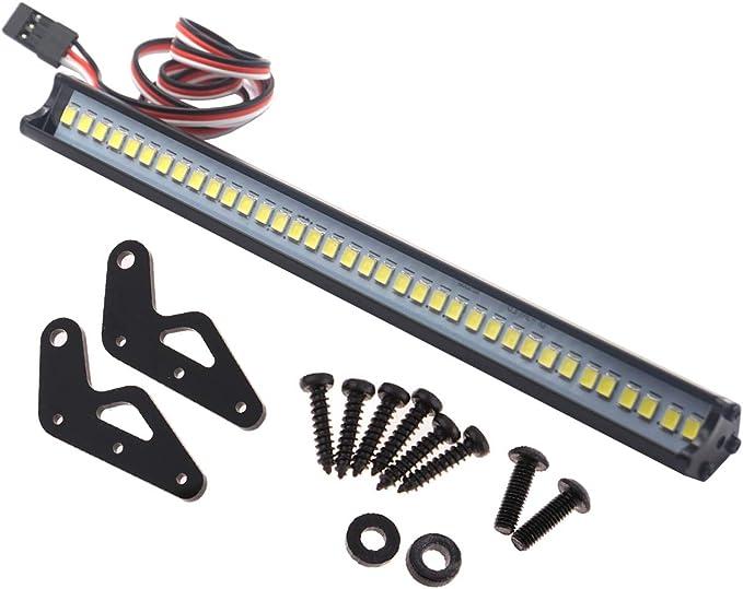 "Super Bright 36 LED Light Bar Metal Roof Lamp Lights 150mm//5.9/"" for Traxxas TRX4"