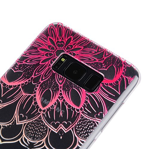 Funda Galaxy S8 plus,SainCat Moda Alta Calidad suave de TPU Silicona Suave Funda Carcasa Parachoques Diseño pintado Patrón para Funda TPU Silicona Epoxi goteo prensado Case Cover Caja Suave Gel Shock  Mandala