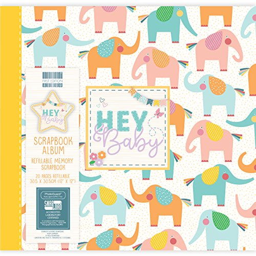 - First Edition Hey Baby Elephants Scrapbook Album 12
