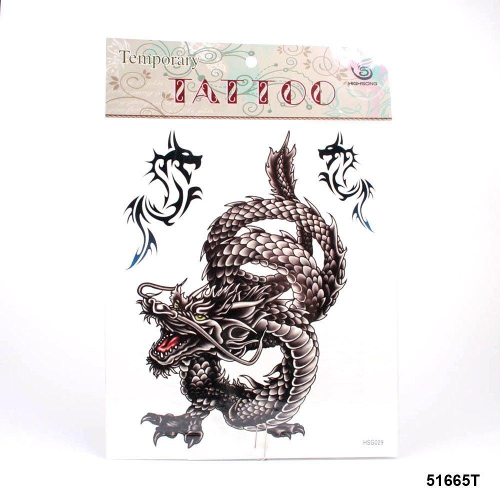 muy grandes tatuajes chinos Dragón en color marrón con dragón en ...