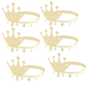 6 Pcs Sombrero de Cumpleaños Corona de Papel para Bebé Niño ...