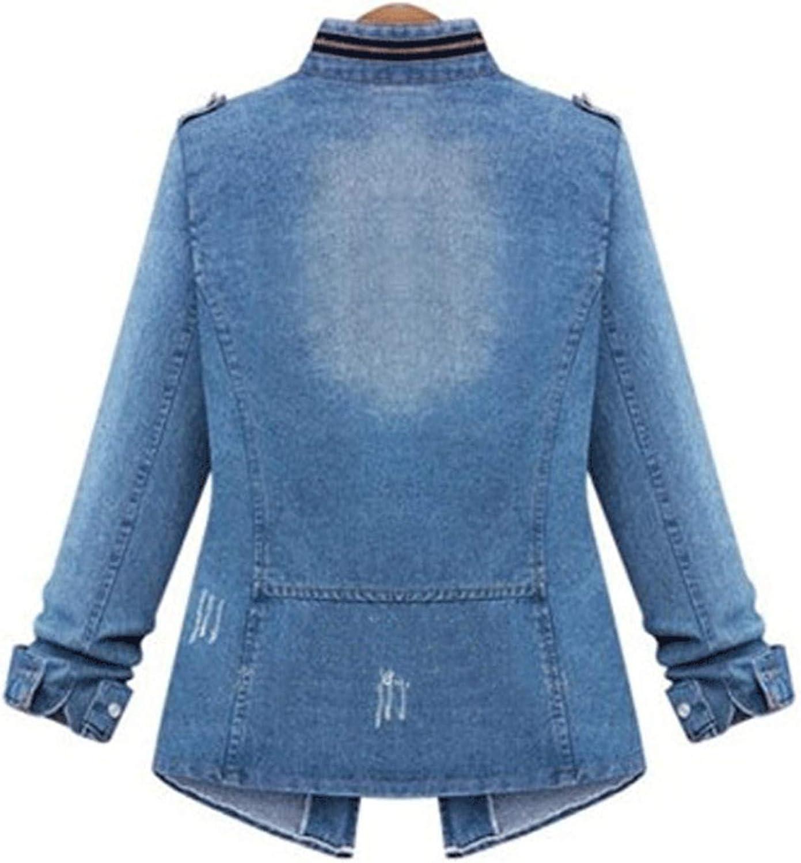 Women Denim Jacket Plus Size S 5XL Basic Coats Spring Autumn Fashion Female Long Sleeve Denim Coat