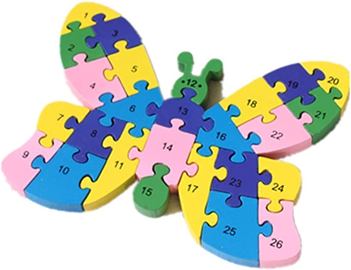 Puzzle Wooden Blocks Toys For Toddlers Childrens Gift Of Ages 2-7dinosaur by