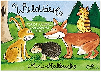Wald Tiere Mini Malbuch Mit Vorlagen Zu Löwe Tiger Giraffe