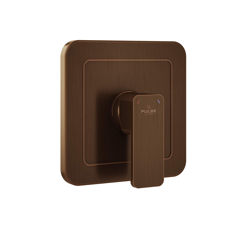 Oil-rubbed Bronze Pulse ShowerSpas 3003-RIV-PB-CH Tru-Temp Mixing Pressure Balance Rough-in Valve Trim Kit, Square, 1 2  NPT Polished Chrome
