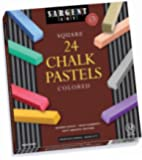 Sargent Art 22-4124 Colored Square Chalk Pastels, 24 Count