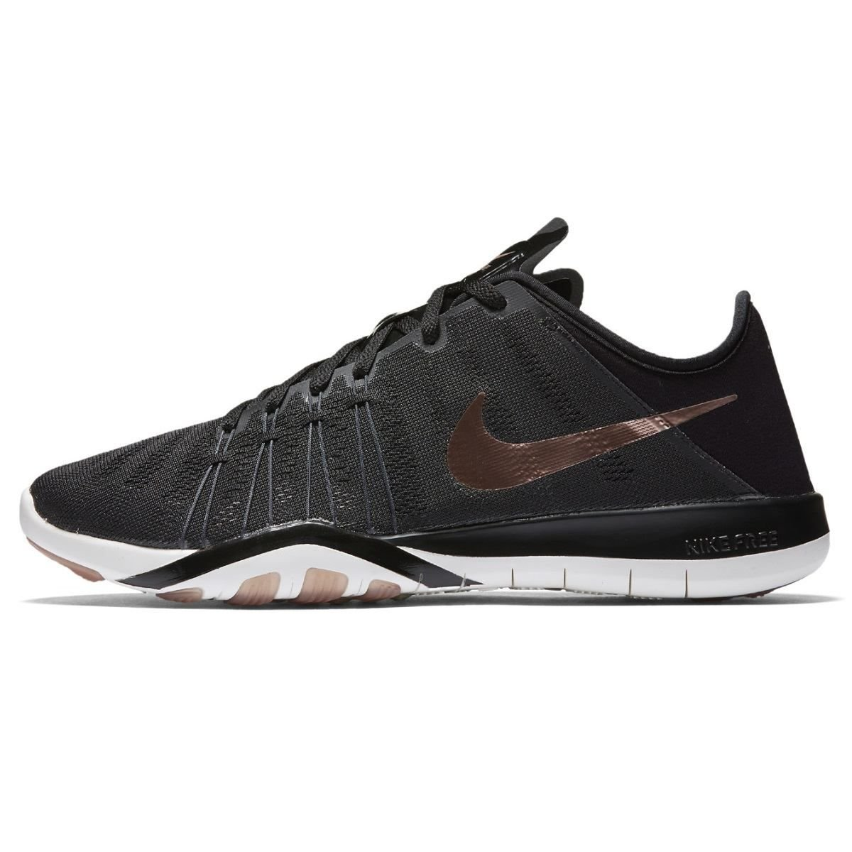 Nike Free TR 6 Women's Cross Training Shoes (9.5 B(M) US, Black/Metallic Red Bronze/Summit White/Dark Grey)