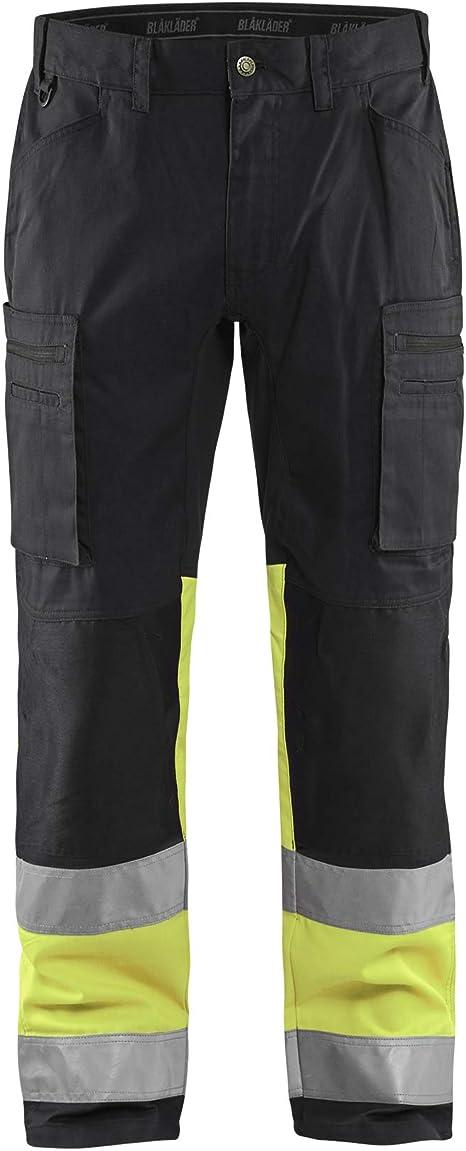 Equipo Protector Personal Hombres Alta Visibilidad Vis Pantalones De Trabajo Bolsillos De Seguridad Cinta Reflectante Rodillera Com