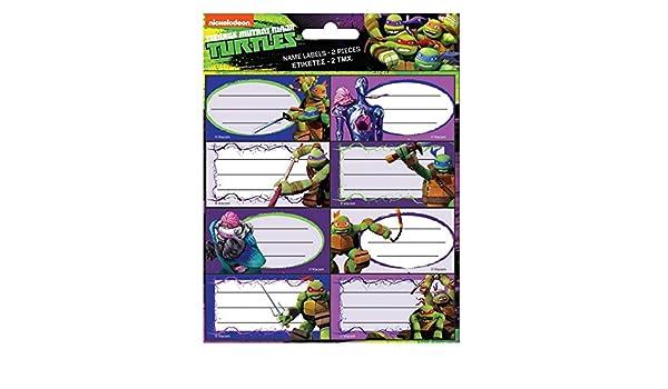 GUIZMAX Lote DE 16 Etiqueta Tortuga Ninja Disney Cuaderno ...
