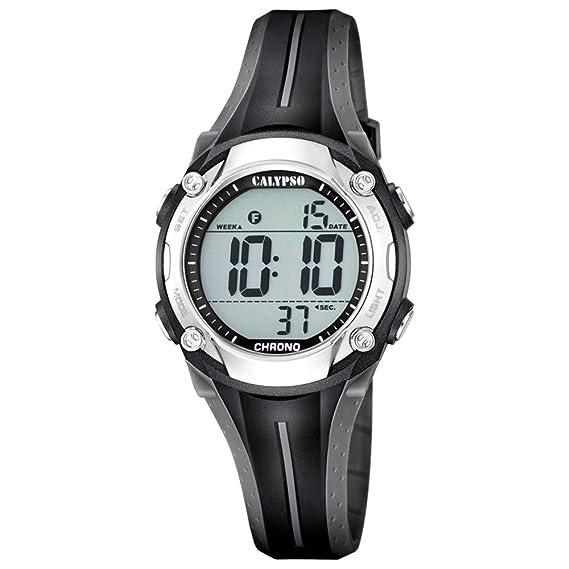 Calypso Reloj de pulsera para mujer cuarzo reloj reloj de plástico con Poliuretano banda de alarma