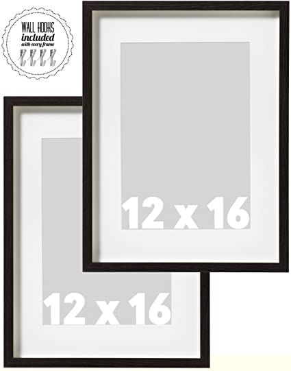 amazon com ikea wall picture frame dark brown wood color 12 x 16