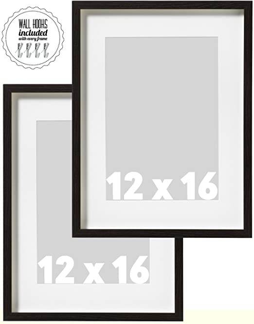Amazon Ikea Wall Picture Frame Dark Brown Wood Color 12 X 16