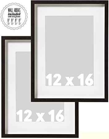Amazoncom Ikea Wall Picture Frame Dark Brown Wood Color 12 X 16
