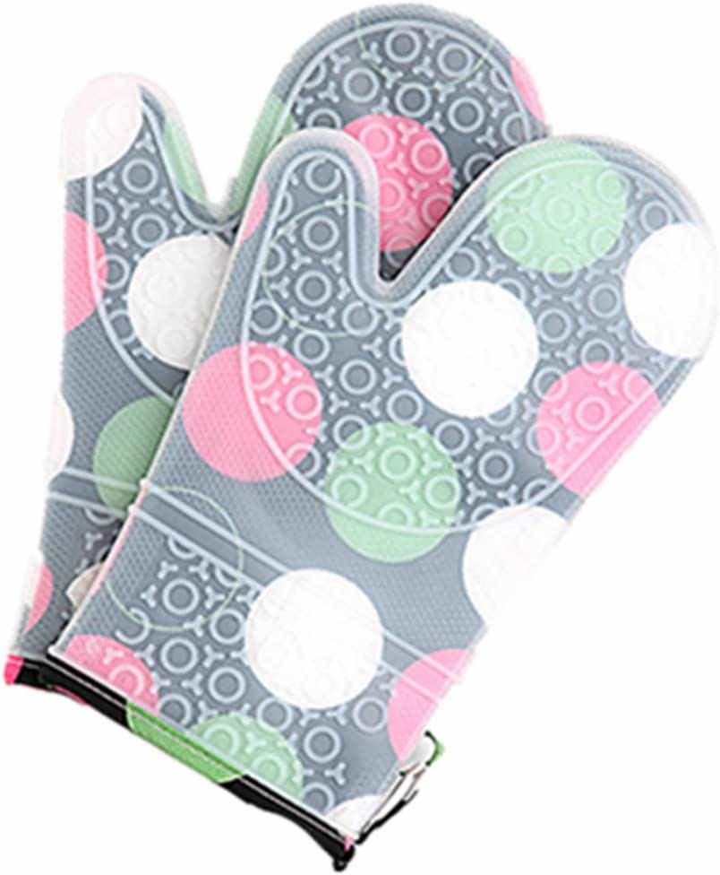 xt Oven Mitts Set of 2 Pcs with Transparent Clear Silicone Shell and Cotton Lining, Heat Resistant to 500 F Kitchen Oven Gloves Pot Holder for Cooking, Barbecue Cooking Baking, BBQ