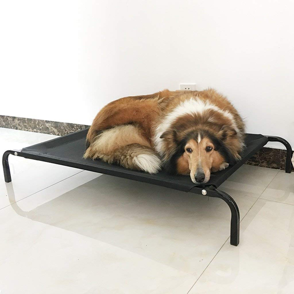 75cm Gwanna Summer removable stainless steel breathable cloth dog cave black Soft Pad for Pets Sleeping (Size   75cm)