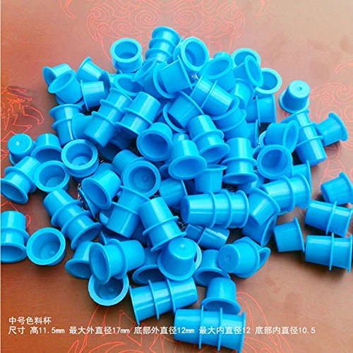 HoriKing Tattoo Supply 1000pcs Disposable Plastic Tattoo Ink Cups M 11mm Size Pigment Cap Cup Tattoo Accessories Supply for Bady Art