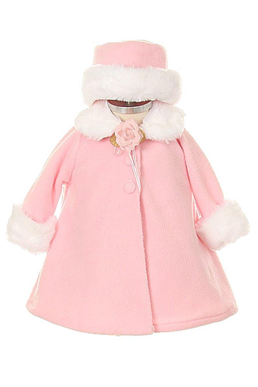 Cozy Fleece Long Sleeve Cape Jacket Coat White Girl 6