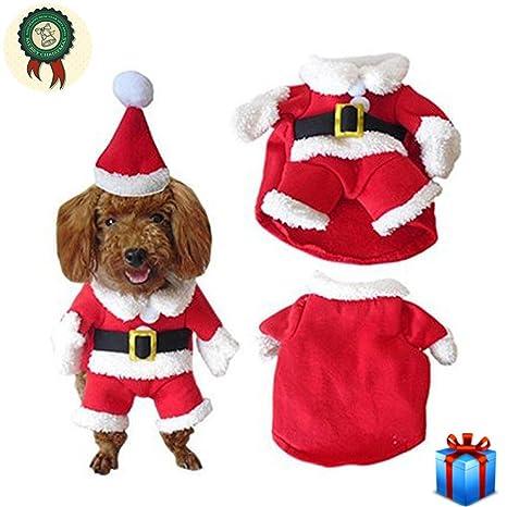Ropa Para Perros Mascotas Abrigo Chaqueta De Trajes De Navidad Cute Elk Christmas Santa Ovejas Blancas
