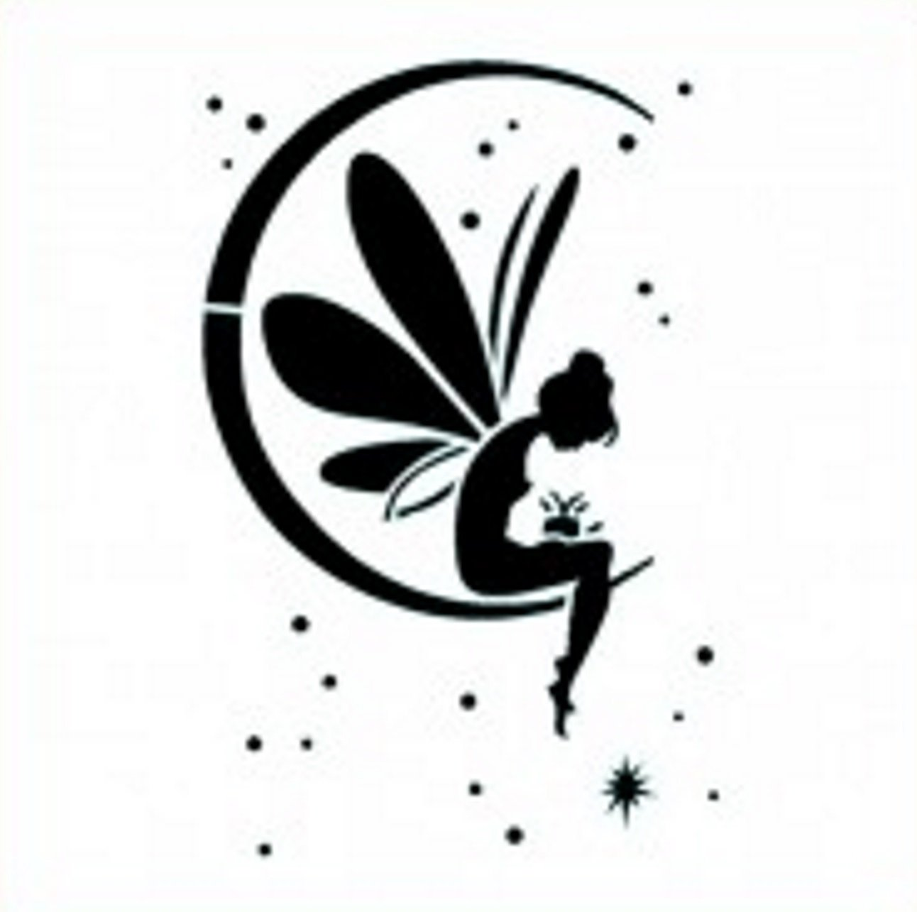 Imagination Crafts Mask Stencil Template 6 X 6 15cm Fairy Moon