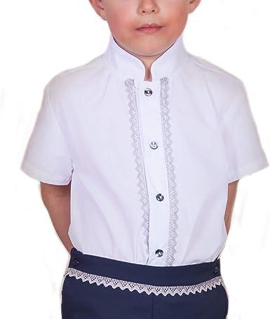 Camisas para Bebés de Manga Corta | Camisas para Niños Entre 3 Meses y 6 Años | 100% Algodón y Cuello con Puntilla | Hecho en España: Amazon.es: Ropa y accesorios