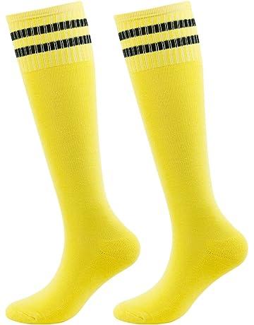 Teens Sports Socks, saillsen Boys and Girls Tube Soccer Socks Team Knee High Socks 2