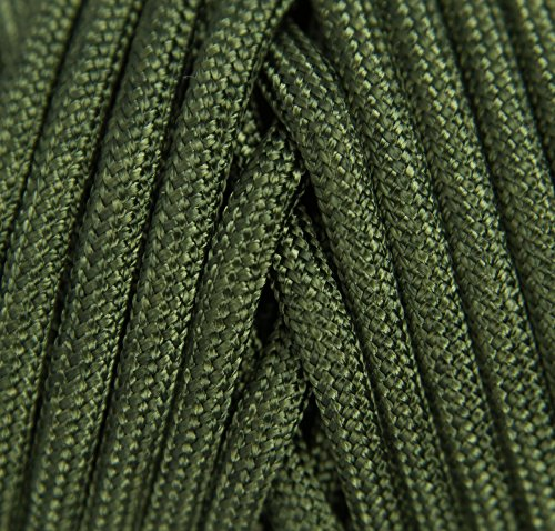 TOUGH-GRID 750lb Camo Green Paracord/Parachute Cord - Genuine Mil Spec Type IV 750lb Paracord Used by The US Military (MIl-C-5040-H) - 100% Nylon - Made in The USA. 50Ft. - Camo Green by TOUGH-GRID (Image #2)