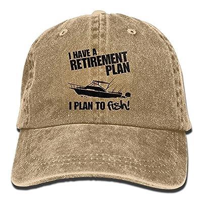LCUCE Retirement Plan About FishingAdjustable Unisex Snapback Hat Cotton Denim Cap from LCUCE