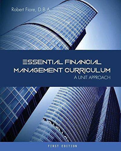 Essential Financial Management Curriculum: A Unit Approach