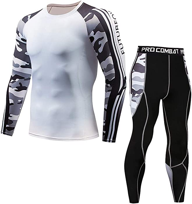 d644f9aed3f90c Amazon.com: Men's Gym Workout Camouflage Cycling Tights Suit Muscle  Bodybuilding Athletic Training Fitness Dry Tights Leggings: Car Electronics