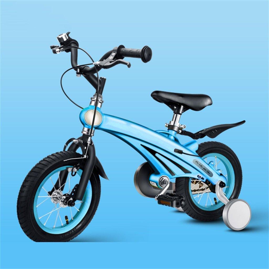 KANGR-子ども用自転車 子供の自転車3歳の男の子/女の子のベビーカー12/14/16インチマウンテンバイク ( 色 : 青 , サイズ さいず : 16inches ) B07BTV62R9 16inches|青 青 16inches