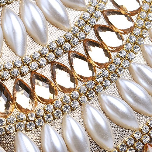 Blanc Perles Banquets Femmes Crossbody à Shoulder Eastever Party Sacs Bag Main Soirée Pochette Sacs Mariage H4dw6q