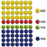 EXSPORT 120 Pack Foam Bullet Balls for Nerf Rival, Apollo, Zeus, Khaos, Atlas, & Artemis Blasters ( 4 Mixed Colors )