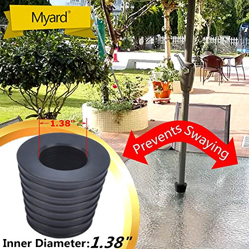 MYARD Umbrella Cone Wedge fits Patio Table Hole Opening or base 2.2 to 2.5 Inch, & Pole Diameter 1 3/8