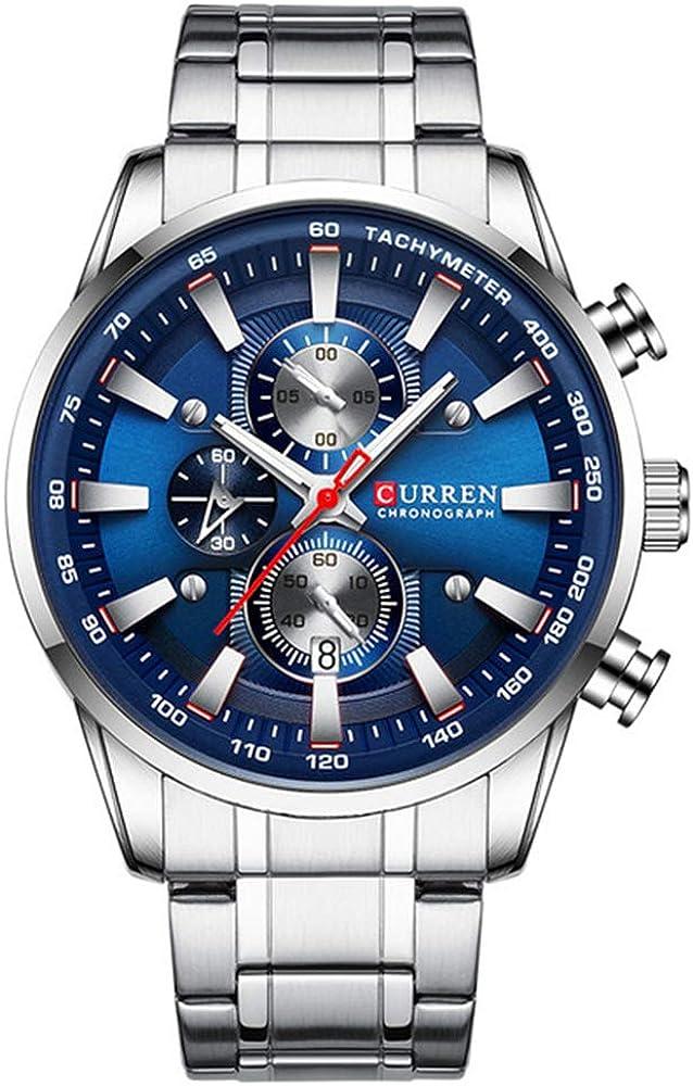 Nuevo Reloj para Hombre Reloj de Pulsera Deportivo de Cuarzo de Oro Negro de primeras Marcas Reloj de cronógrafo para Hombre Relojes de Acero Inoxidable para Hombre
