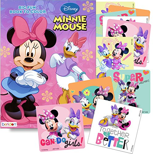 Disney Coloring Books for Kids with Sticker - Minnie Mouse