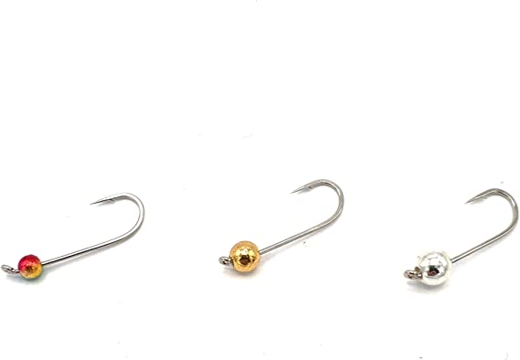 Zite Fishing Micro Tungsten Jigheads Neon mit Forellen-Haken Ultra Light Tungsten-Perlen 0,3-1,2g Montiert 27 STK Set