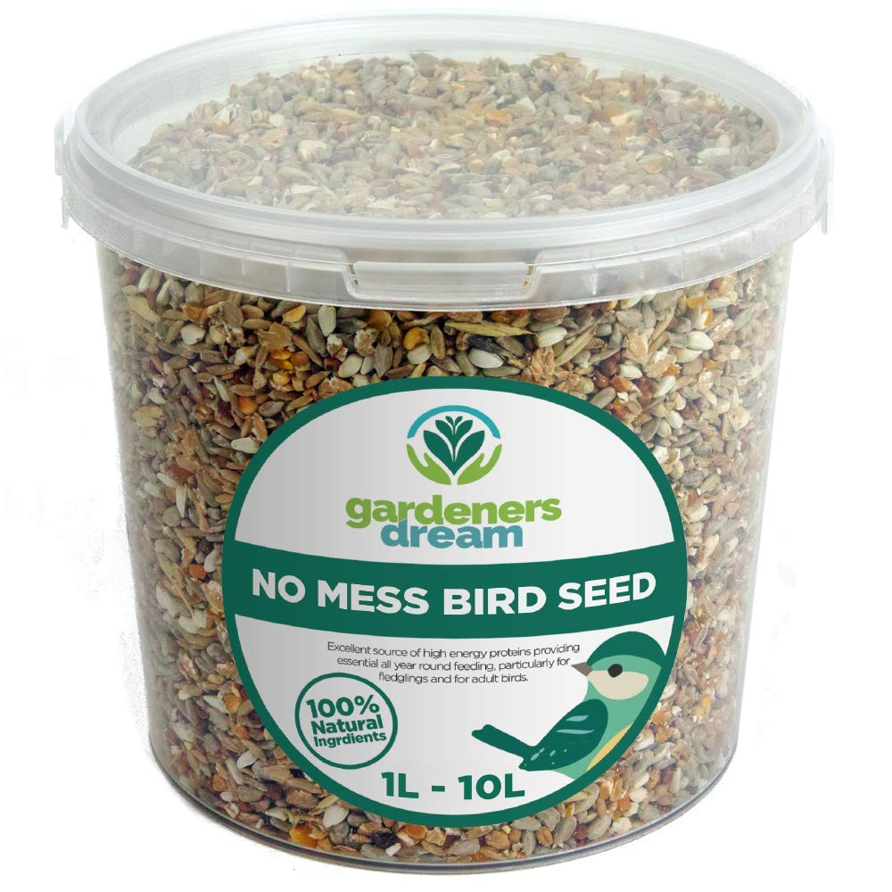 GardenersDream No Mess Seed Mix - All Year Round Wild Bird Food For Garden Birds (1L Tub)