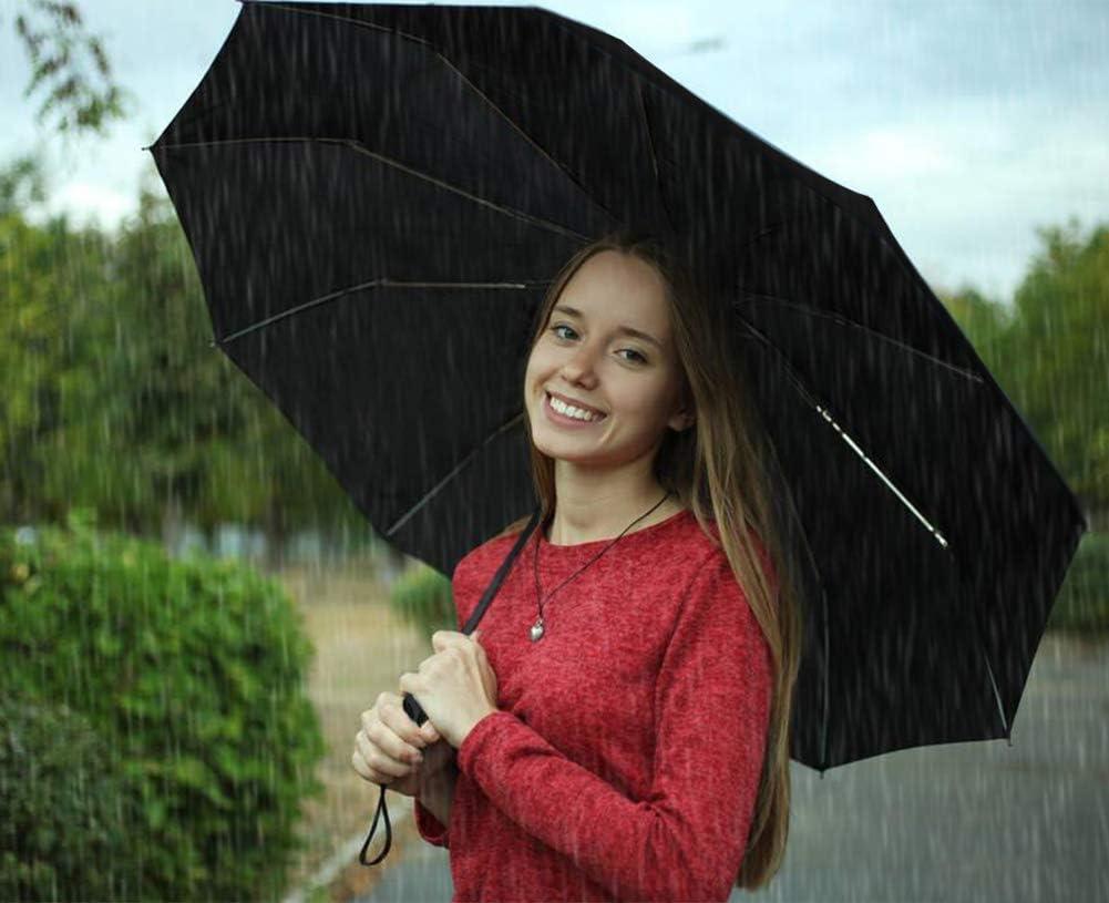 Noir Yuccer Parapluie Pliable Noir Parapluie Leger Anti Vent Parapluie de Voyage Femme Ombrelle Anti UV pour /École Voyage La Vie Quotidienne Cadeau